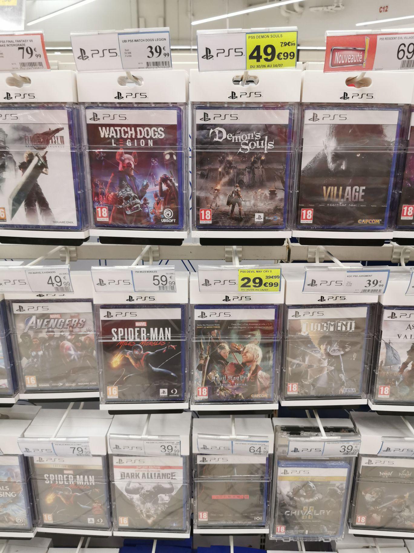 Sélection jeux en soldes ex: Demon's souls Ps5 à 49.99€ ou Xenoblade Chronicles: Definitive Edition Nintendo Switch à 19.99€ (Balma 31)