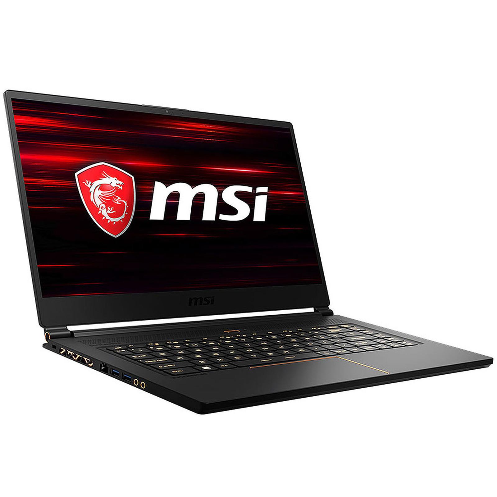 "PC ultraportable gaming 15.6"" MSI GS65 Stealth 9SF-1671FR - Full HD IPS 144 Hz, i7-9750H, RAM 32 Go, SSD 512 Go, RTX 2070 (1.8 cm / 1.9 kg)"
