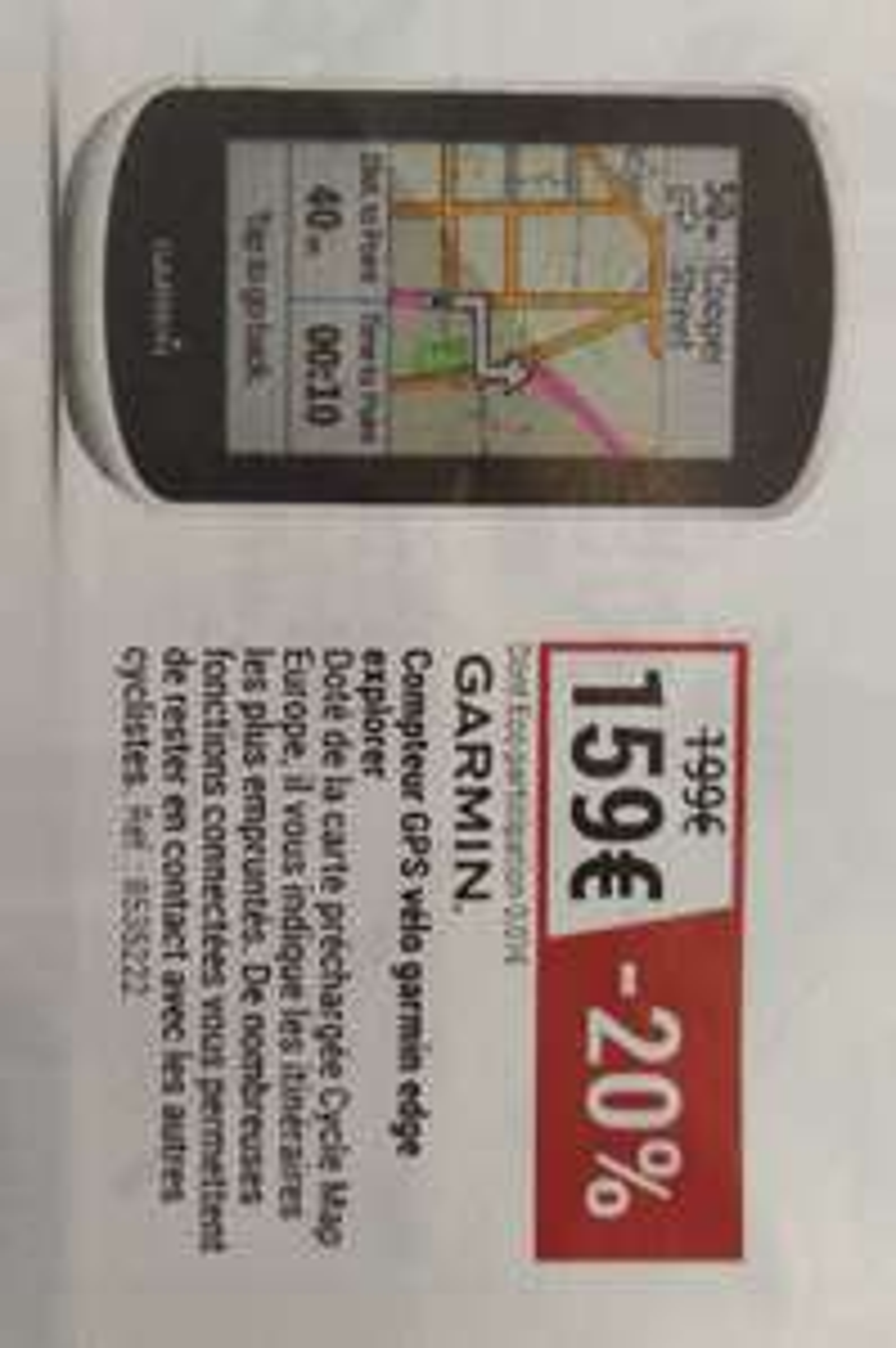 Compteur GPS vélo Garmin Edge Explorer
