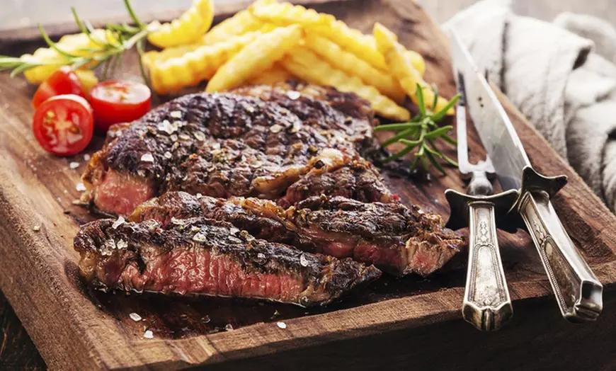 2 Entrecôtes 400gr de viande de race (Charolaise, Montbéliarde..) grillées, sauces & garnitures au Bistrot K2 (Gradigna 33)