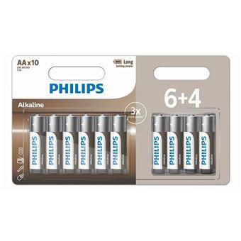 Lot de 30 piles alcalines Philips