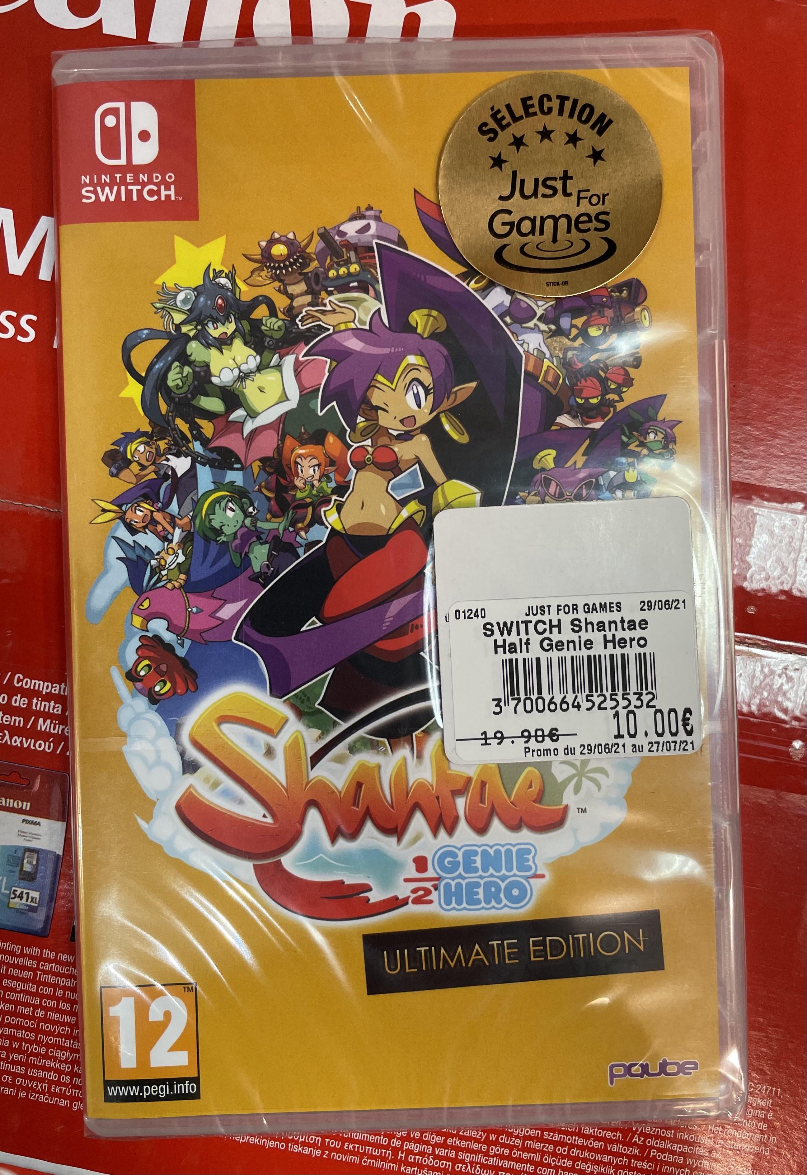 Shantae 1/2 Génie Hero Ultimate Edition sur Switch (Saint Denis les Sens 89)