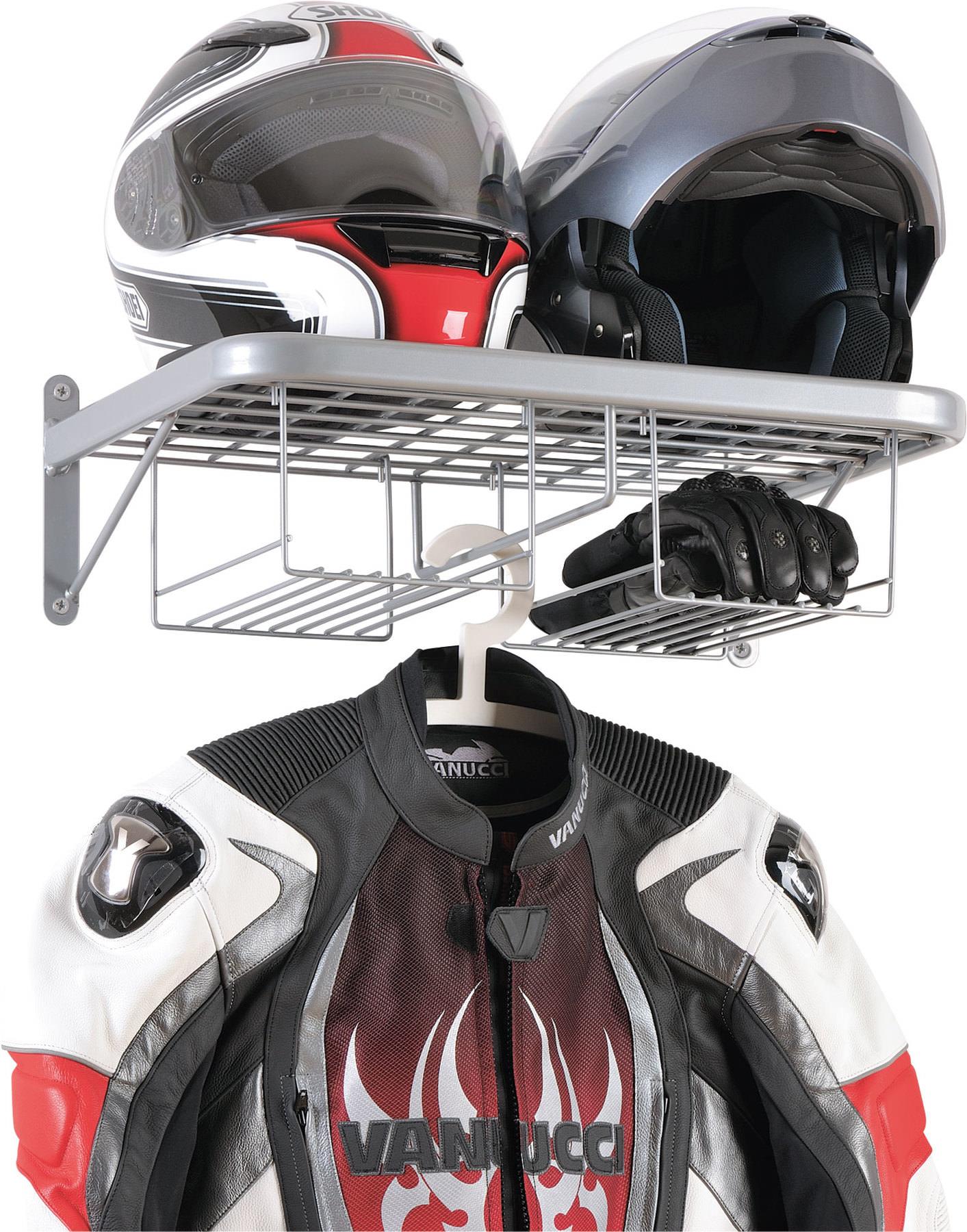 Étagère double vestiaire pour motard avec rangement pour gants Louis