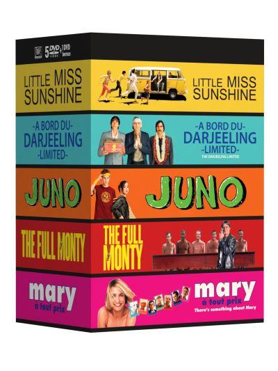 Coffret 5 DVD - Little Miss Sunshine, Juno, Mary à tout prix, The Full Monty, À bord du Darjeeling Limited