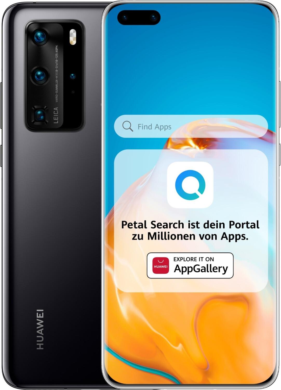 """Smartphone 6.58"""" Huawei P40 Pro 5G - full HD+, Kirin 990, 8 Go de RAM, 256 Go, noir, sans services Google"""