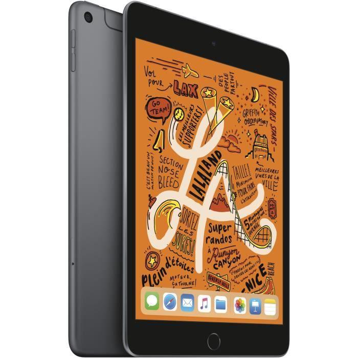 "Tablette 7.9"" Apple iPad Mini (2019) - 256 Go, Wifi + Celullar, Gris Sidéral"