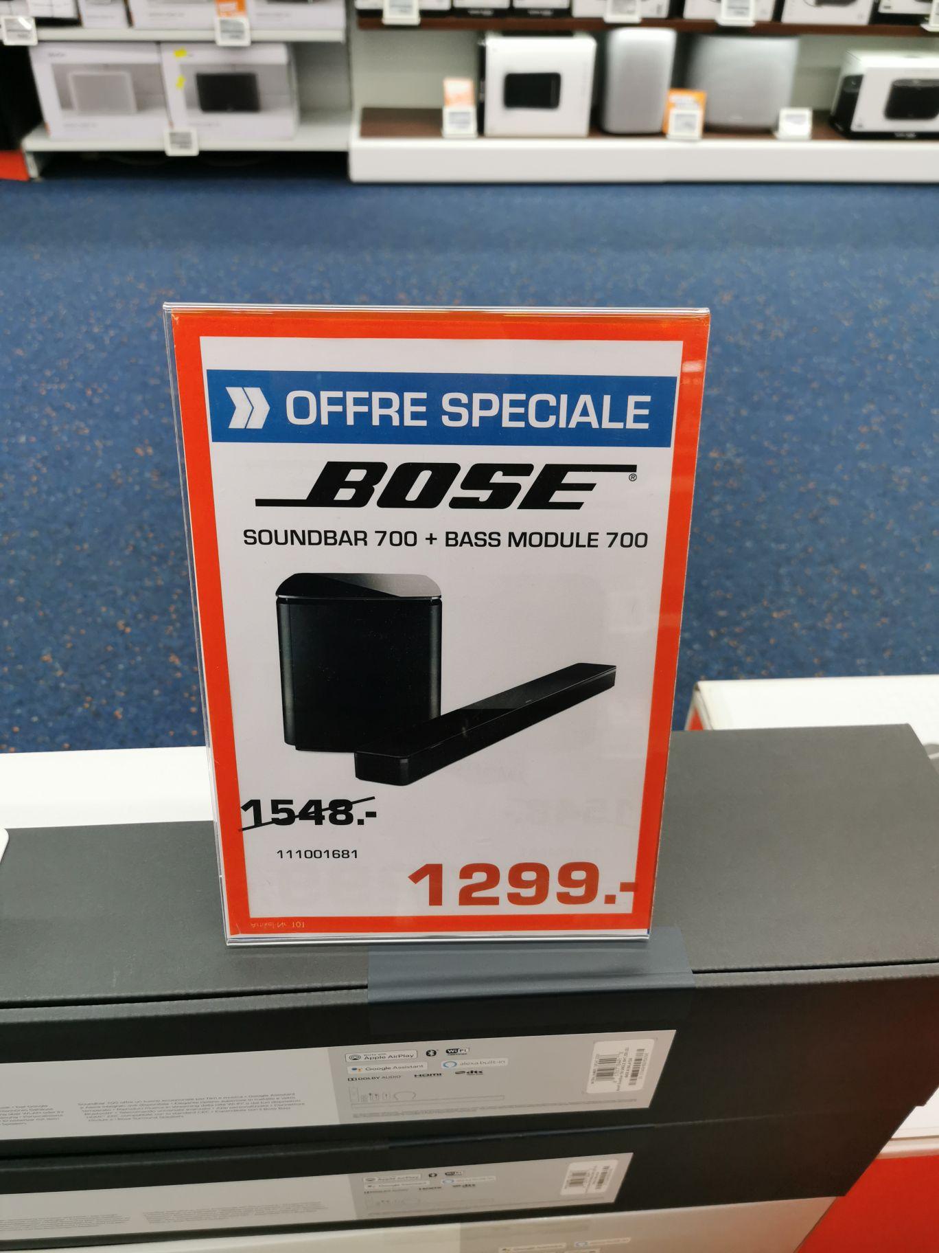 Barre de son Bose Soundbar 700 + caisson de basses Bose Bass Module 700 - Esch-sur-Alzette (frontaliers Luxembourg)