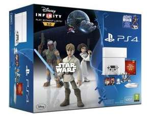 Pack console Sony PS4 (500 Go, blanche) + pack de démarrage Disney Infinity 3.0: Star Wars