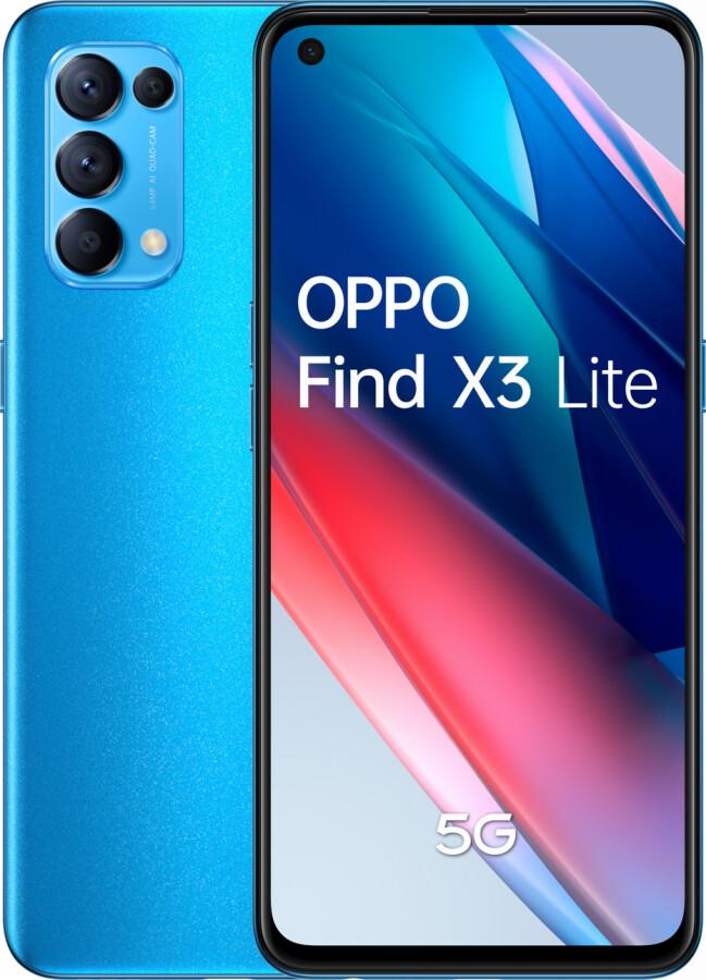 """Smartphone 6.4"""" Oppo Find X3 Lite 5G - full HD+, SnapDragon 765G, 8 Go de RAM, 128 Go, différents coloris (+ 20€ sur le compte-fidélité)"""
