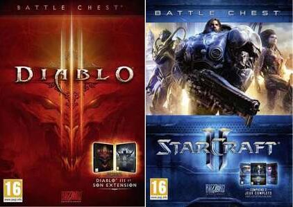 Diablo III Battle Chest ou Starcraft 2 Battle Chest Trilogie sur PC (Via retrait en magasin)