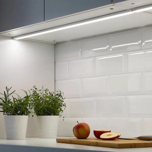 Éclairage plan travail à LED connecté Omlopp - Blanc, 80 cm