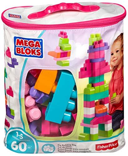 Jeu de blocs de construction Mega Bloks Sac Rose - 60 pièces