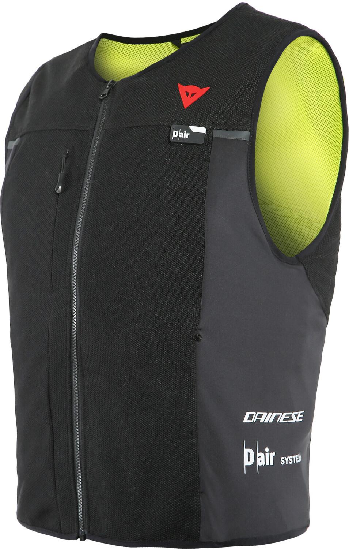 Gilet airbag pour motard Dainese D-Air Smart Jacket 2021 - noir/jaune (MAJ - Lady taille L et XXL)