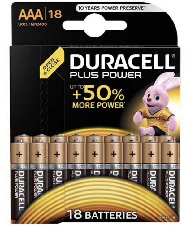 Paquet de 18 Piles Duracell LR03 - AAA