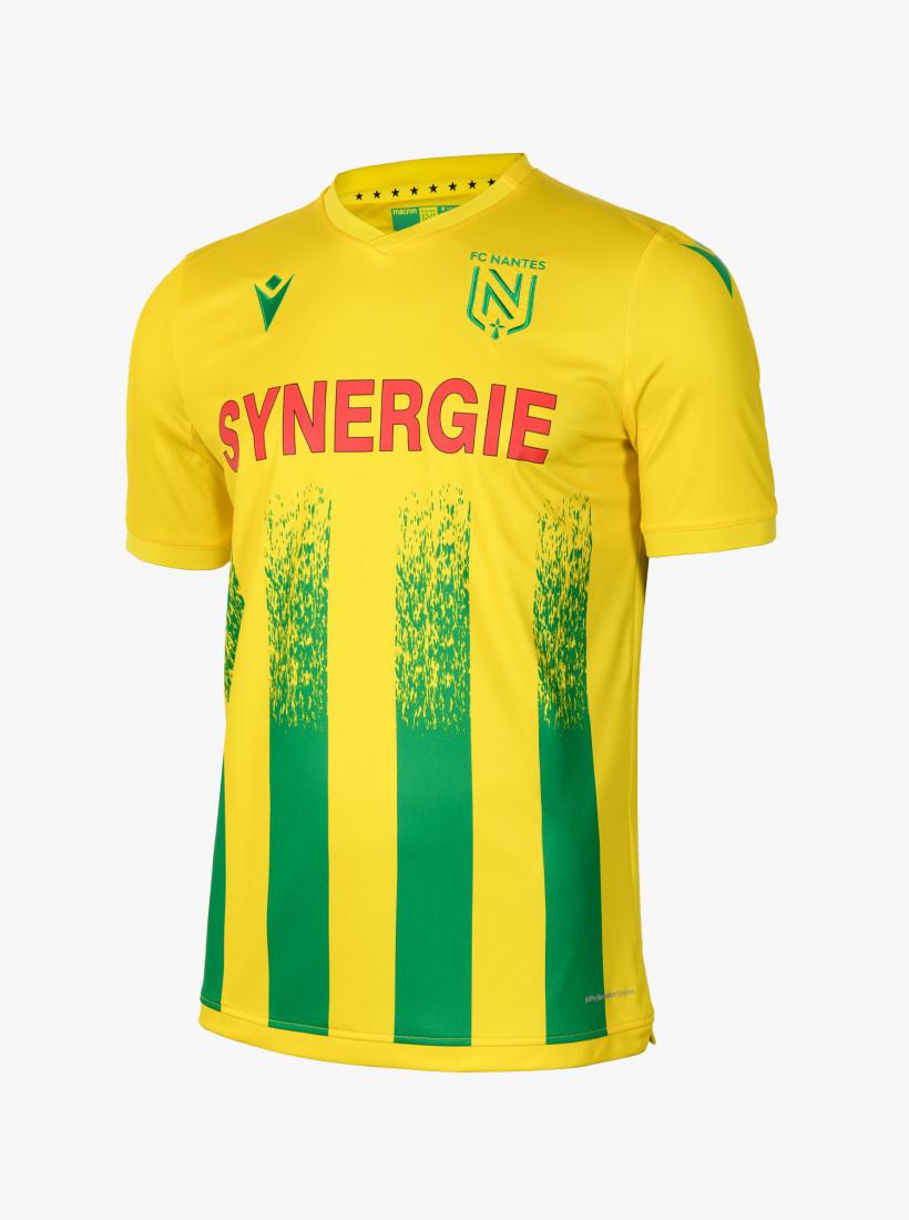 Maillot de football Macron FC Nantes 20/21 domicile (tailles XL ou XXL, flocage gratuit) - boutique.FCNantes.com