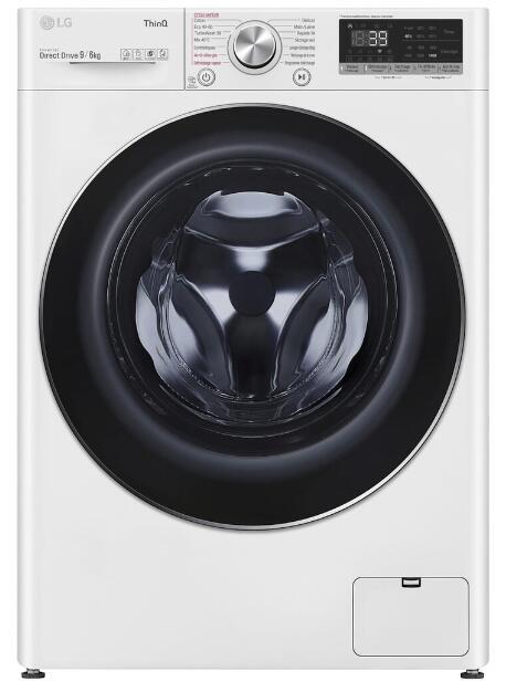 Lave-linge séchant LG F964V72WRHT - 9 kg (lavage) / 6 kg (séchage) (Via ODR de 80€)