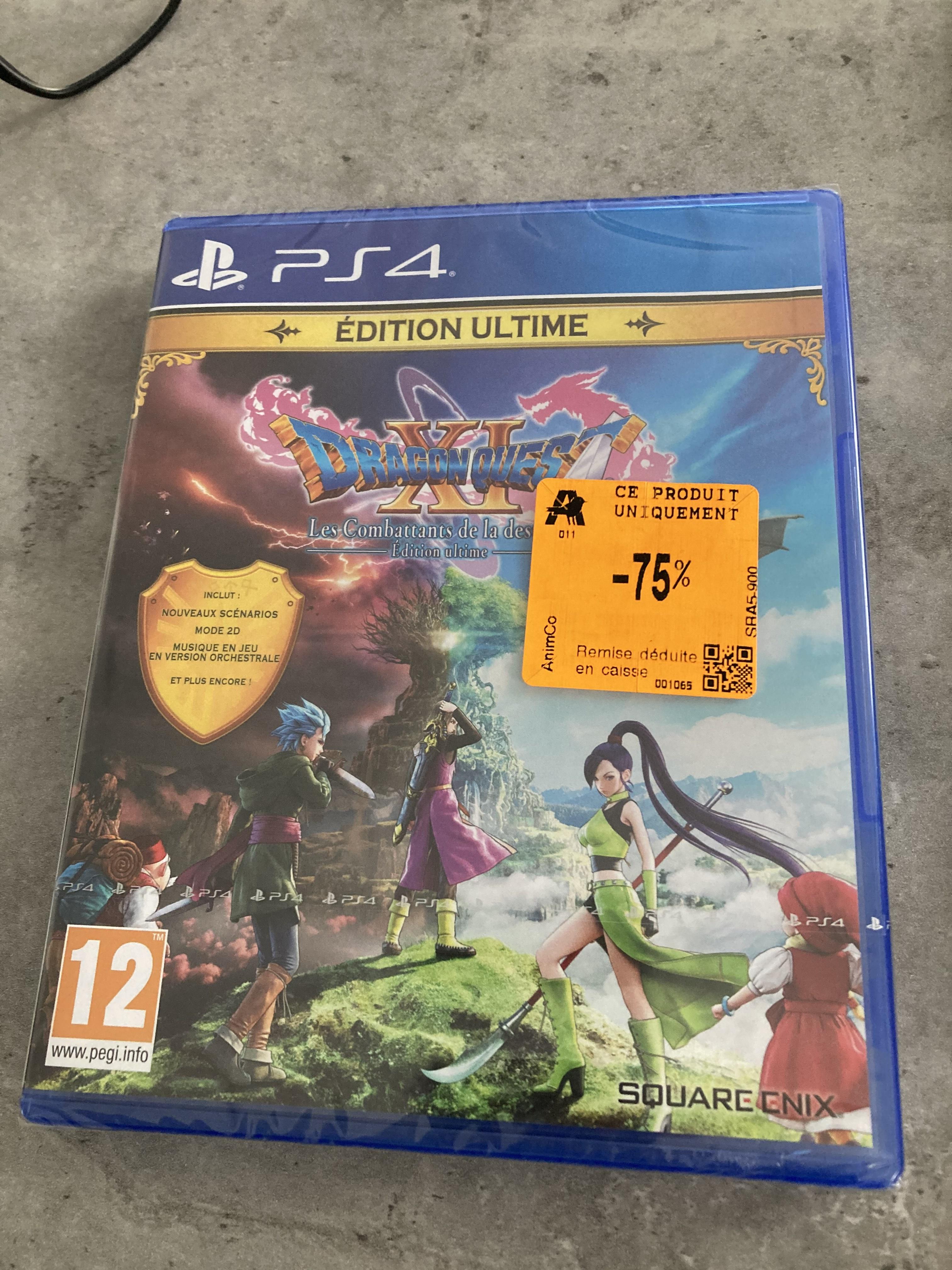 Sélection de jeux en soldes - Ex : Dragon Quest XI - Edition Ultime (PS4)