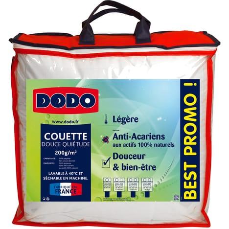 Couette légère anti-acariens Dodo - 140x200cm, 200g/m² (différentes tailles dispo jusqu'à 260 x 240cm)