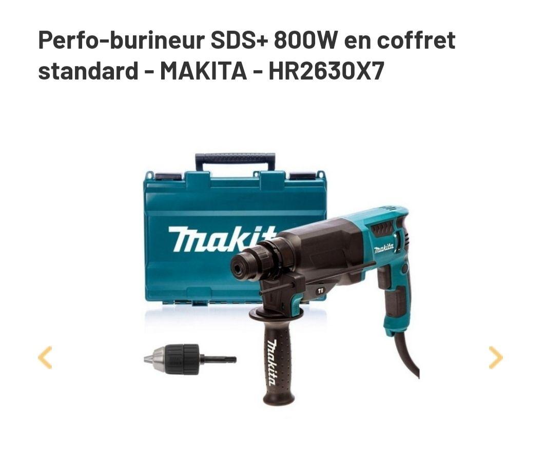 Perfo-burineur SDS+ Makita HR2630X7 en coffret standard - 800W