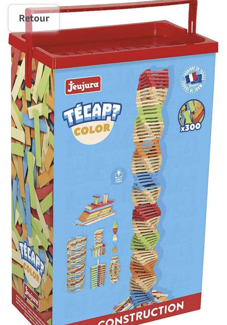 Baril de Planchettes Jeujura Tecap Color - 300 Pieces