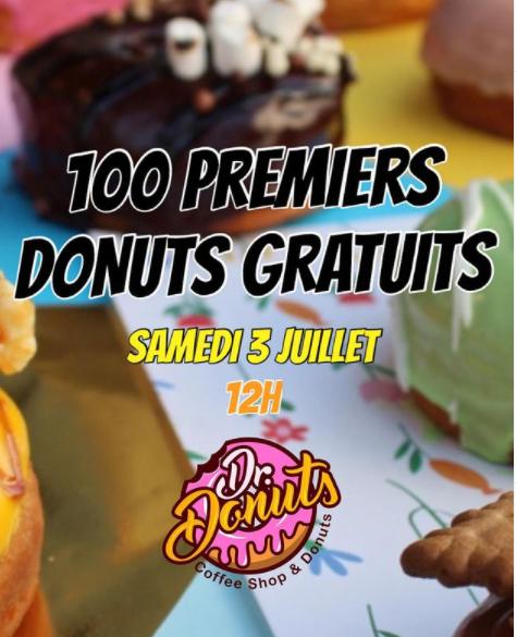 Distribution gratuite de 100 donut's pour l'inauguration - Dr.Donuts Paris (75)