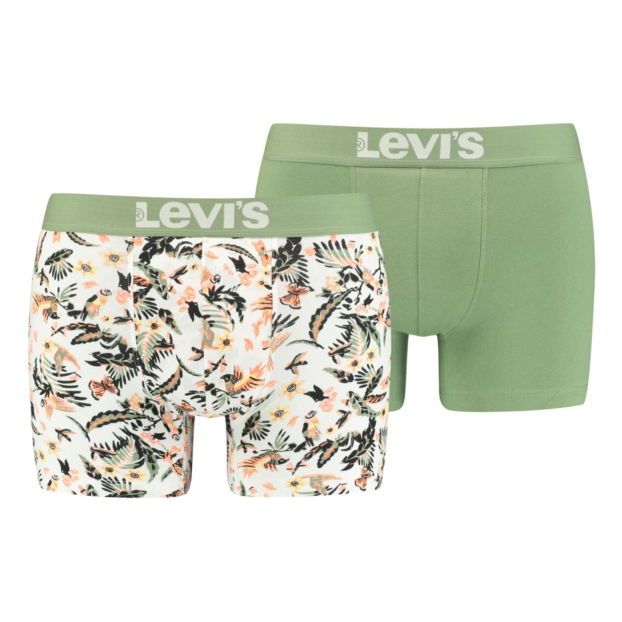 Sélection de sous-vêtements Levi's en promotion - Ex : Lot de 2 Boxers Levi's blanc cassé, kaki et corail