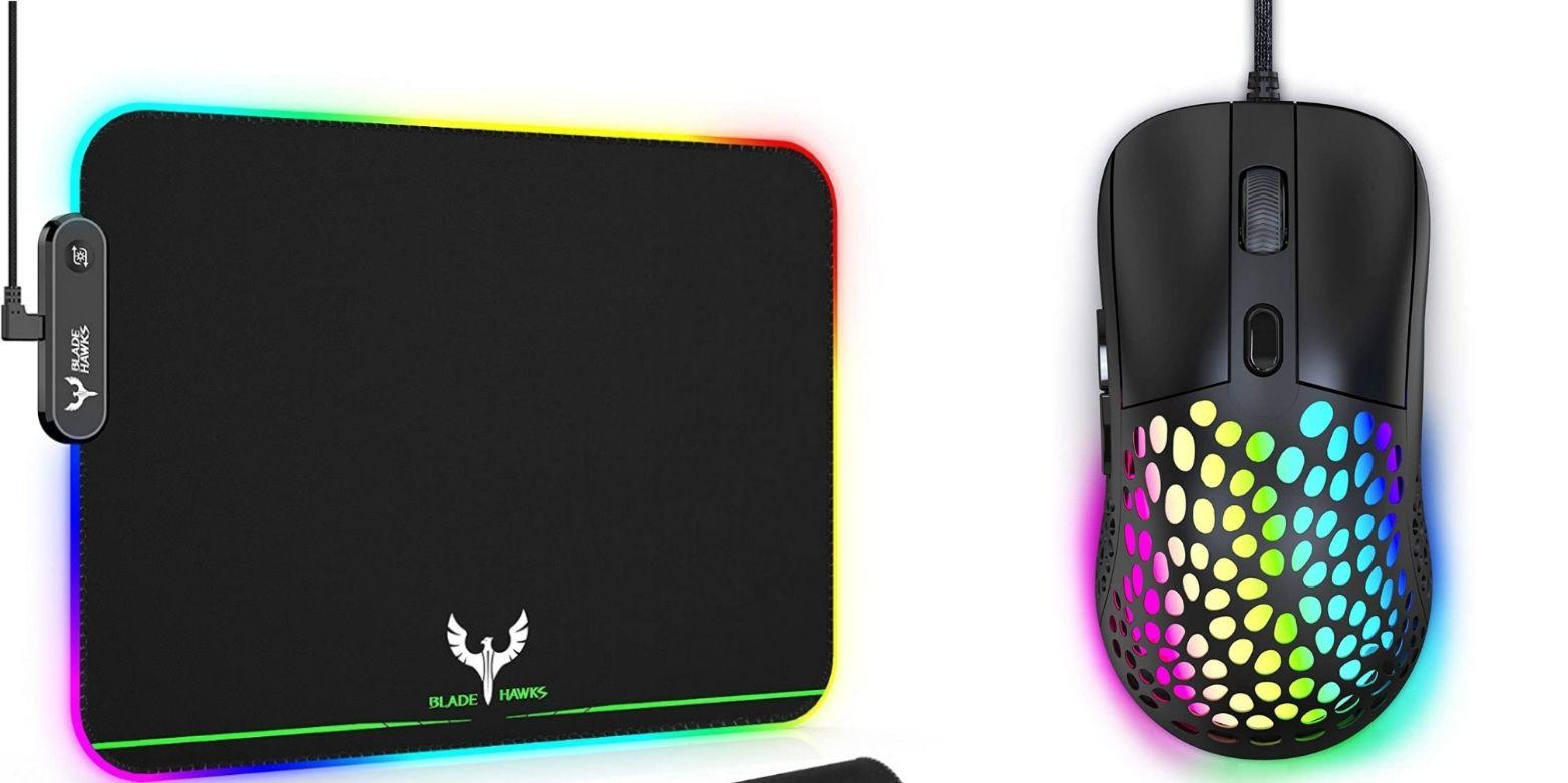 Ensemble Blade Hawks - clavier LED RGB (25.5x9 cm) + souris filaire RGB (6400 dpi, 6 boutons) - vendeur tiers