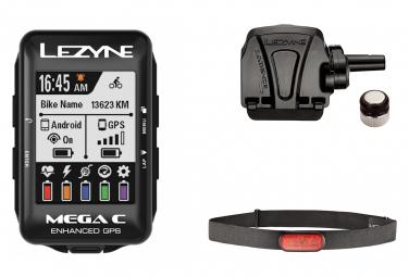 Compteur GPS Lezyne Mega Color (Cardio/Vitesse-Cadence)