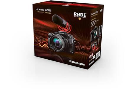 Appareil photo Panasonic Lumix G90 Noir + G Vario 12-60mm f/3,5-5,6 + Micro Rode VideoMic Go + 2ème batterie