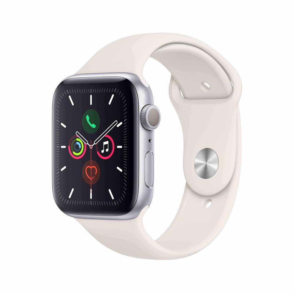 Sélection de montres connectée Apple en promotion - Ex: Apple Watch Serie 5 - 44 mm, Silver (Frontaliers Belgique)