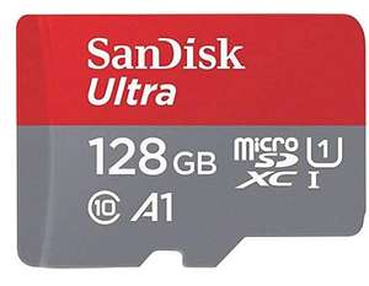 Carte Micro SDXC Sandisk Ultra 128Go + SD adapteur (via Retrait Magasin)