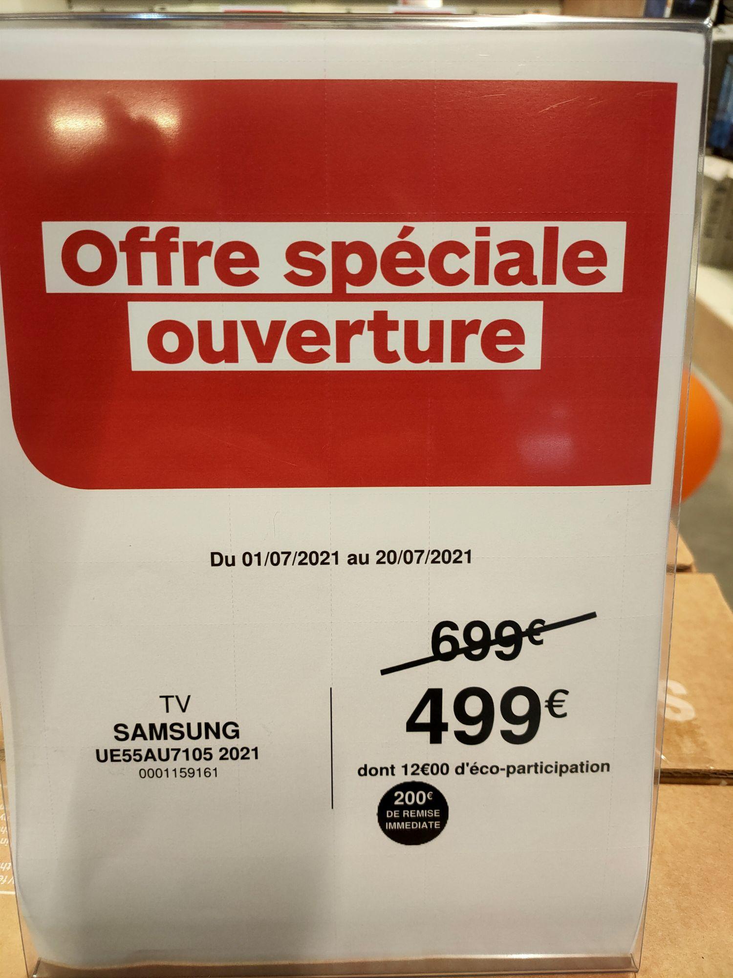 TV LED 55'' Samsung UE55AU7105 - 4K UHD, Smart TV, HDR (Rennes 35)