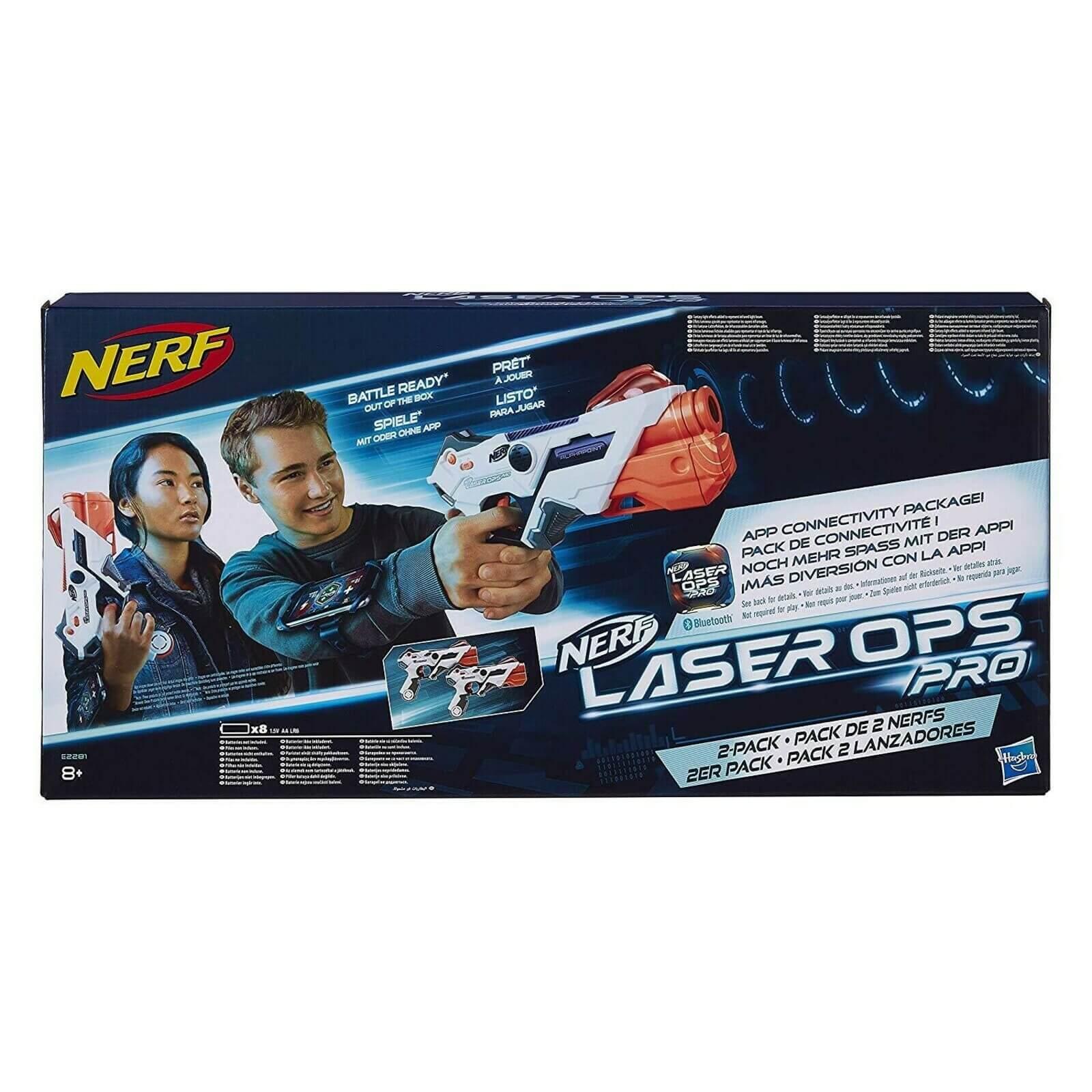Pack de deux pistolets Nerf Laser OPS Pro AlphaPoint