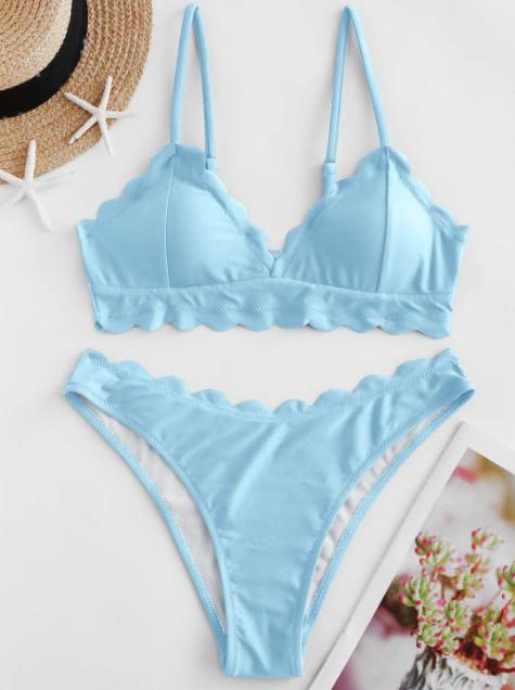 Sélection d'articles en promotion - Ex: Maillot De Bain Bikini Festonné - plusieurs coloris & tailles (frais de port inclus)