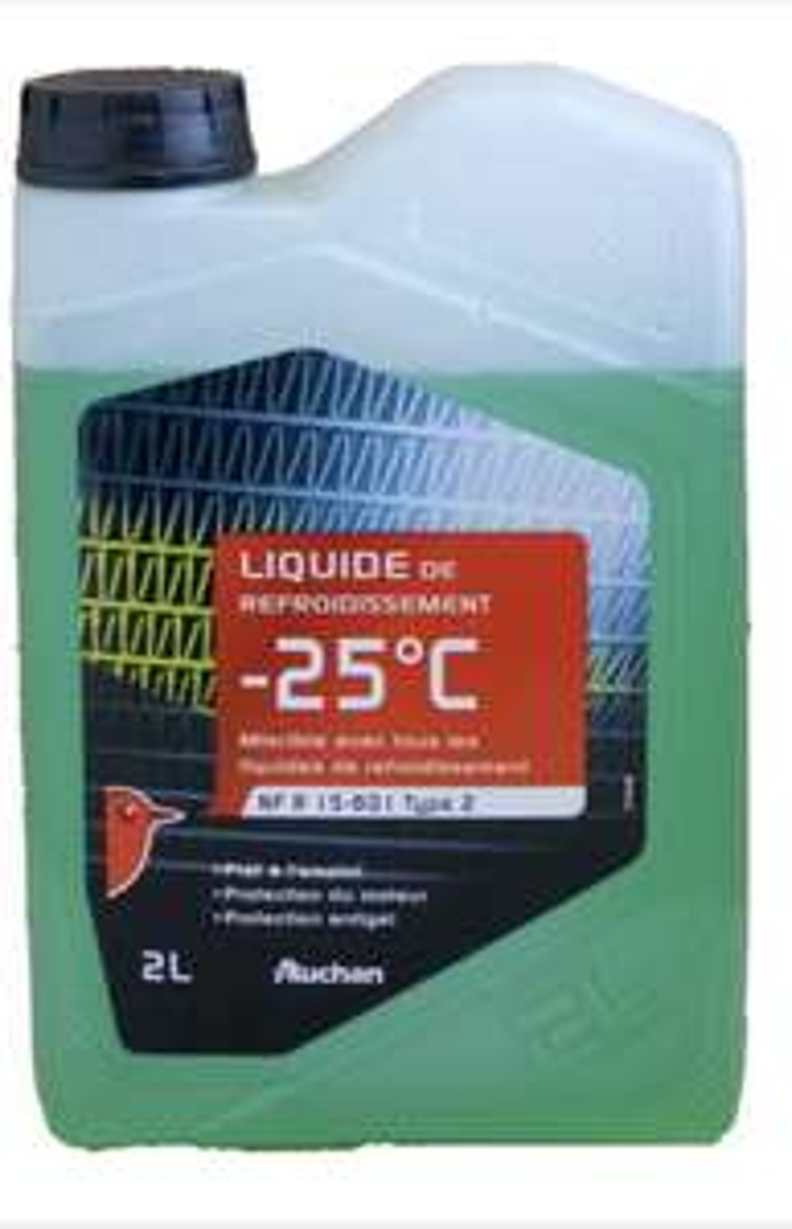 Bidon de liquide de refroidissement -25° C Auchan (2 L) - Osny (95)