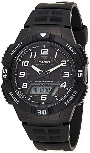 Montre quartz Casio Collection AQ-S800W-1BVEF pour Homme - 42mm, étanchéité 100m, solaire