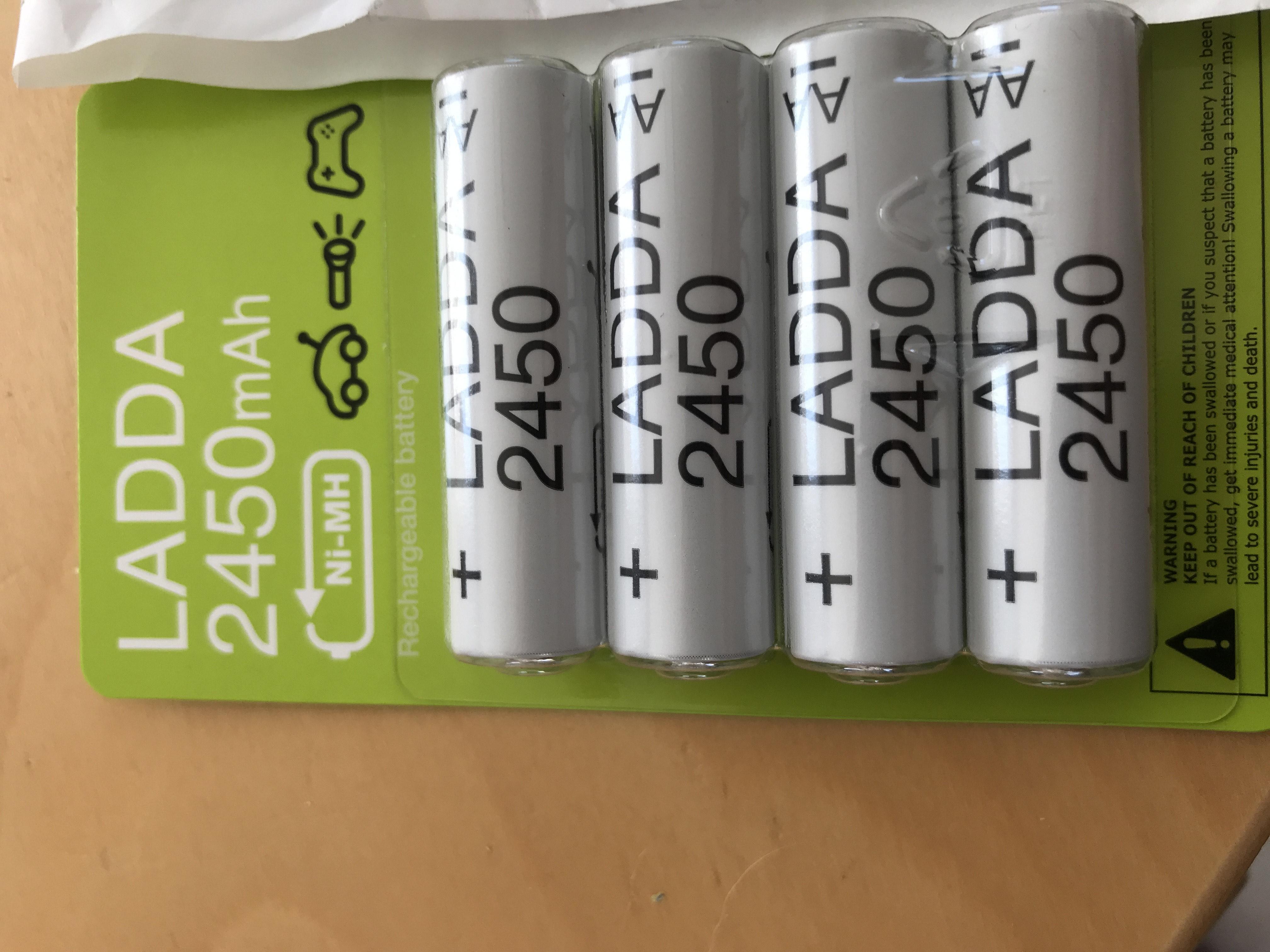 [Ikea Familty] Lot de 4 Piles rechargeables AAA ou AA Ikea Ladda - Caen (14)