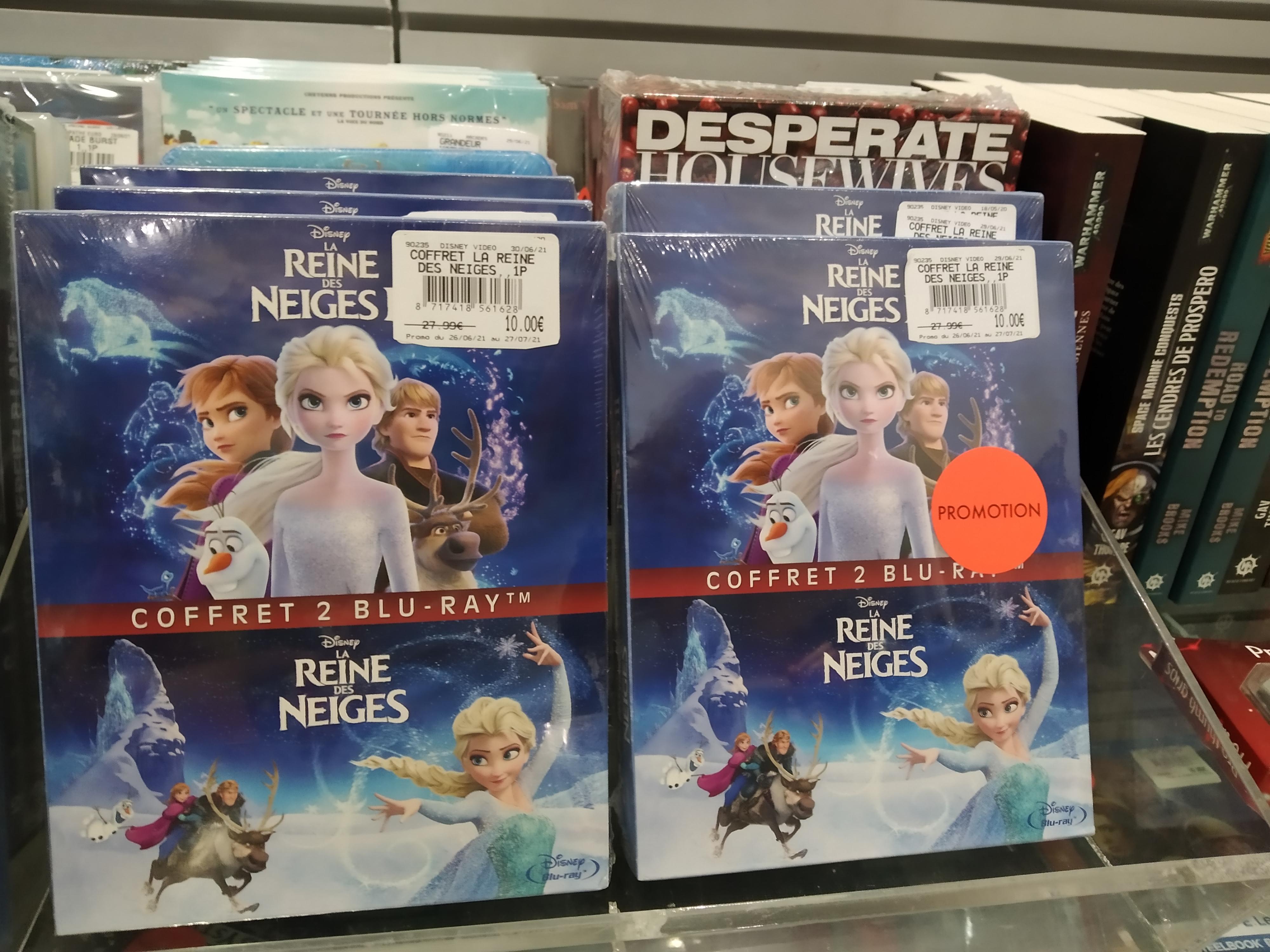 Coffret Blu-ray la reine des neiges 1 et 2 - Leclerc Clermont Ferrand la Pardieu (63)