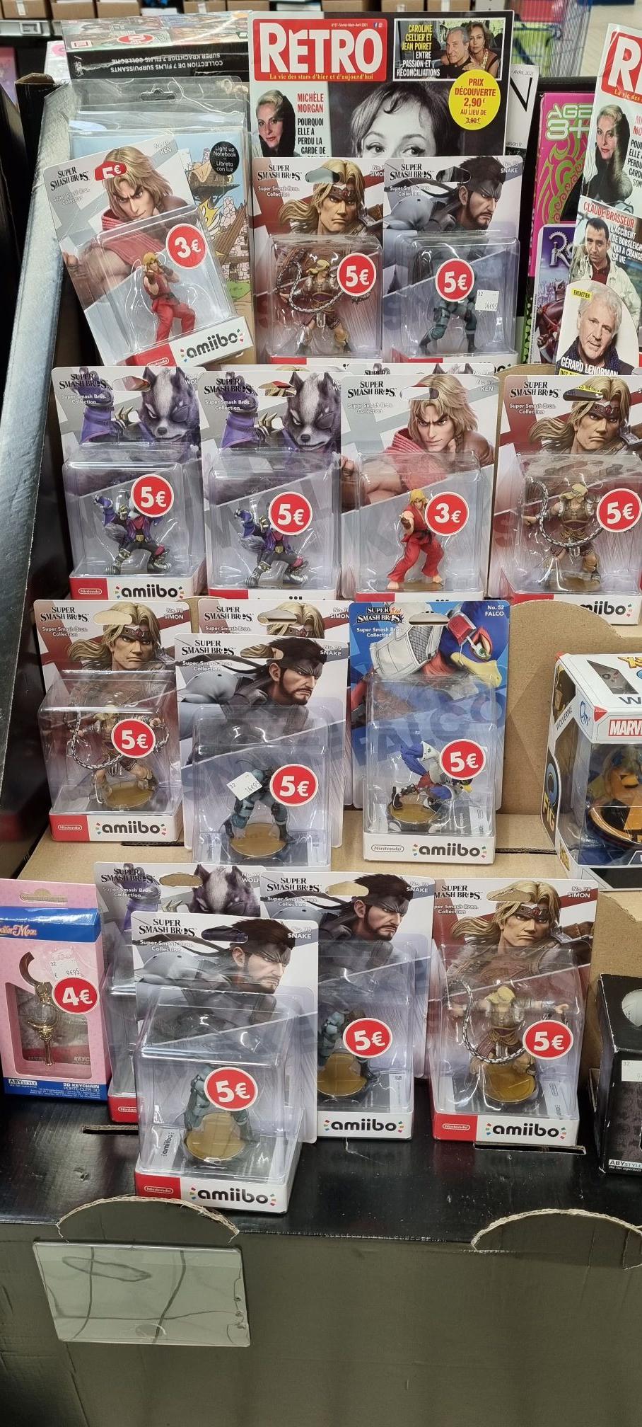 Sélection de figurines Nintendo Amiibo - Carrefour à Tourville la rivière (76)