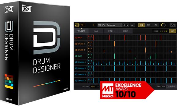 Plug-ins Drum Designer d'UVI (Dématérialisé)