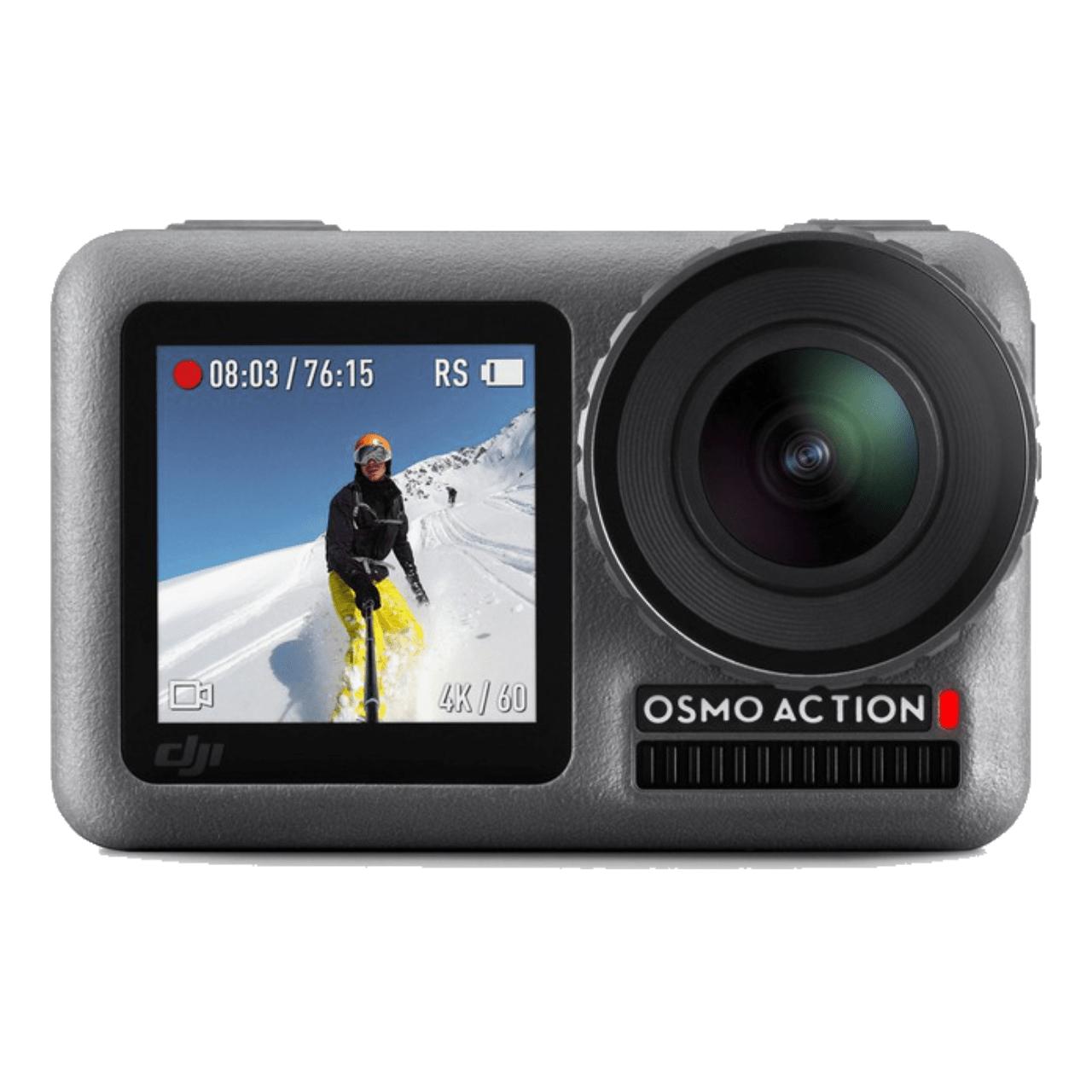 Caméra sportive Dji Osmo Action + Kit de recharge Part 3 Charging Kit (2 batteries + chargeur)