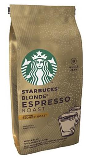 Paquet de café en grain Blonde Starbucks - 200g