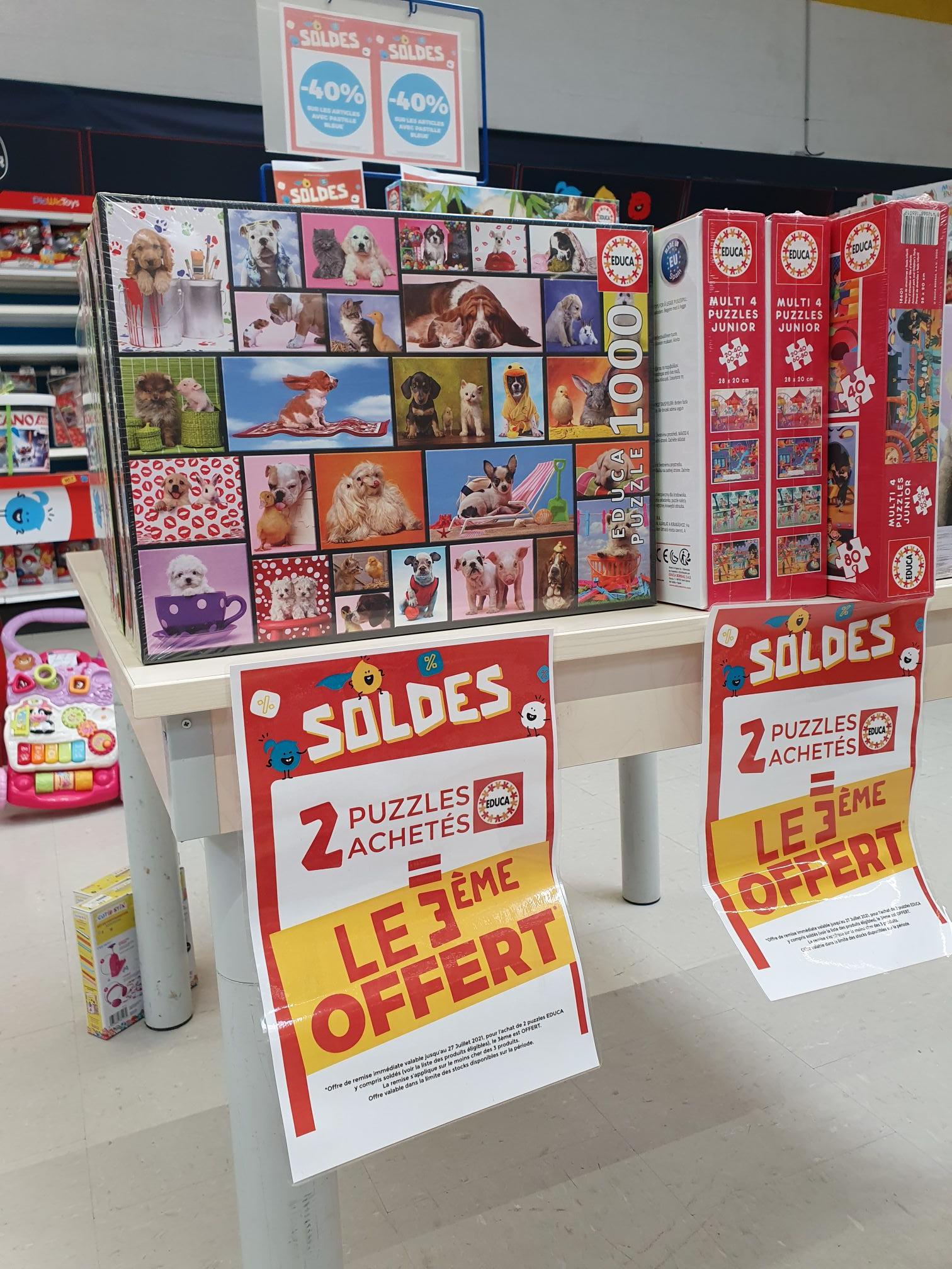 2 puzzles Educa achetés = le 3ème offert - Sequedin (59)