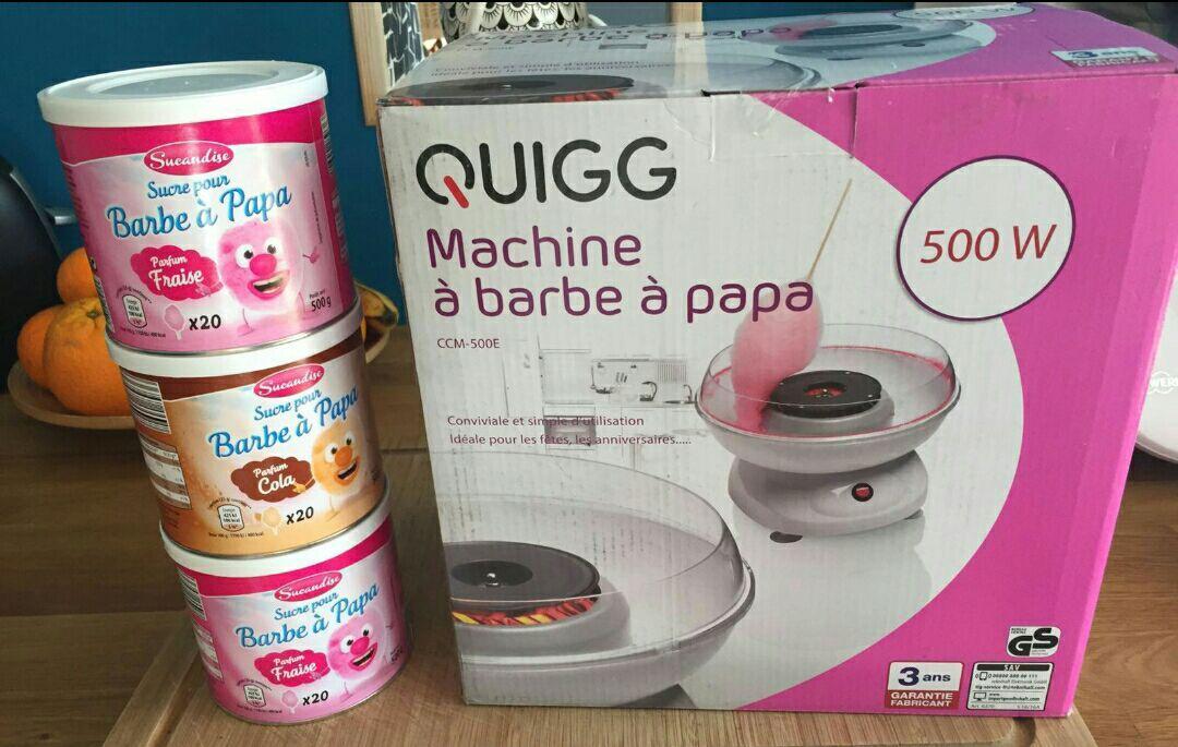 Appareil à barbe à papa Quigg CCM-500E - 500 W