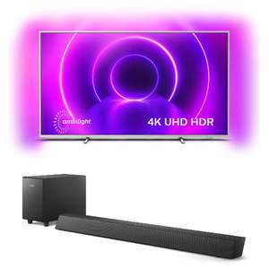 """TV 70"""" Philips The One 70PUS8545 (LED, 4K UHD, HDR 10+, Dolby Vision, Ambilight 3 côtés, Android TV) + Barre de son TAB 5305 (70W)"""