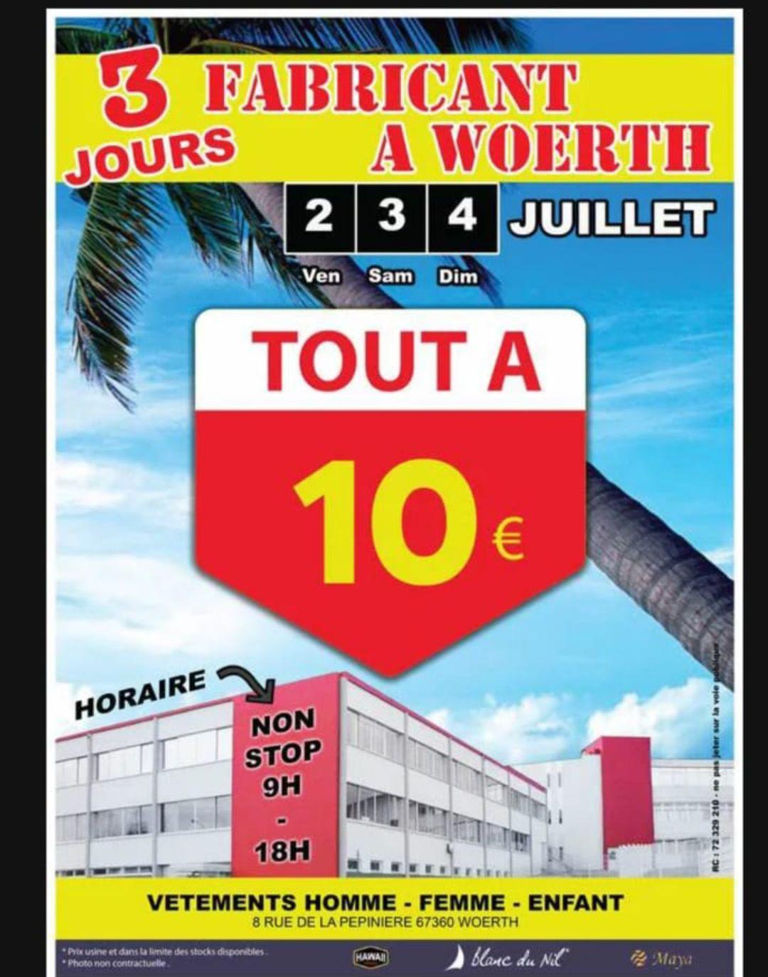 Blanc du Nil vêtements pour Femme, Homme et Enfant tout à 10€ - Woerth (67)