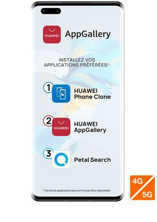 "Smartphone 6,76"" Huawei Mate 40 Pro - 8Go RAM, 256Go ROM (Sans Services Google)"