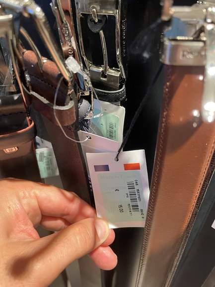 Sélection de ceintures en cuir de marques diverses en promotion - Paris (75)