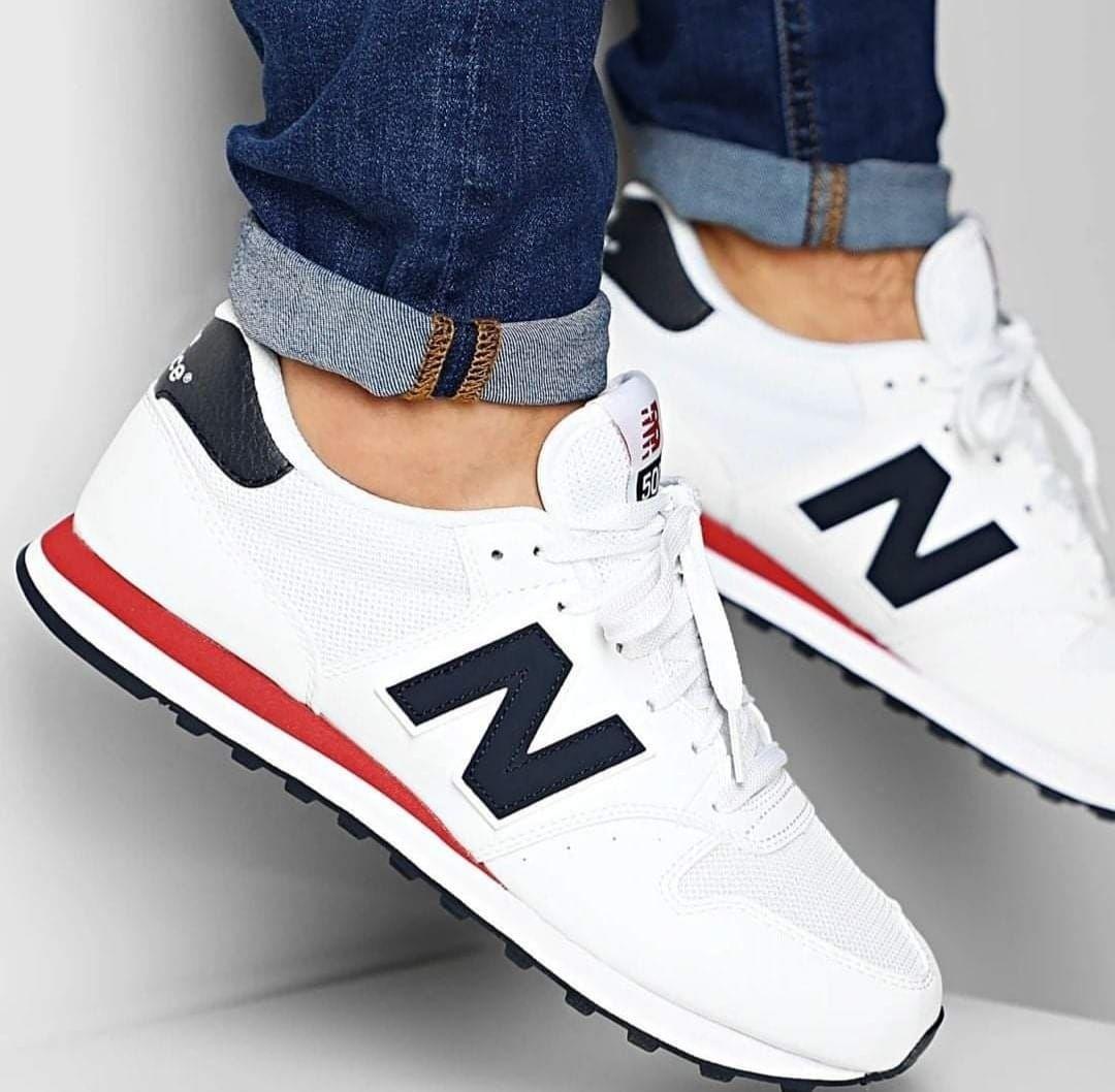 Paire de baskets Mixte New Balance NB500 - Blanc