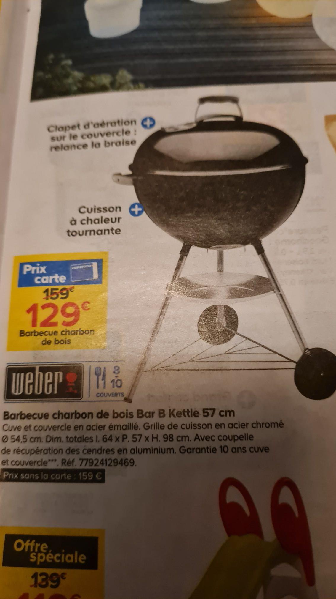 Barbecue charbon de bois Weber Bar B Kettle - ø57 cm